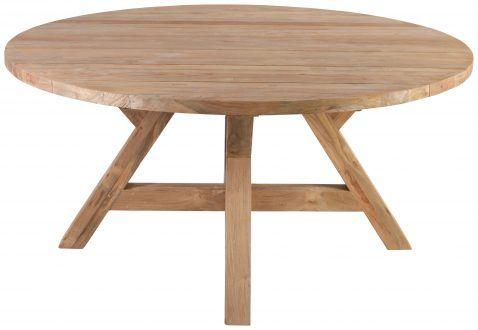 Block Chisel Round Reclaimed Teak Dining Table Teak Dining