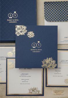 Navy Wedding Invitation Ideas Wedding Invitations Boho Indian Wedding Invitations Indian Wedding Cards