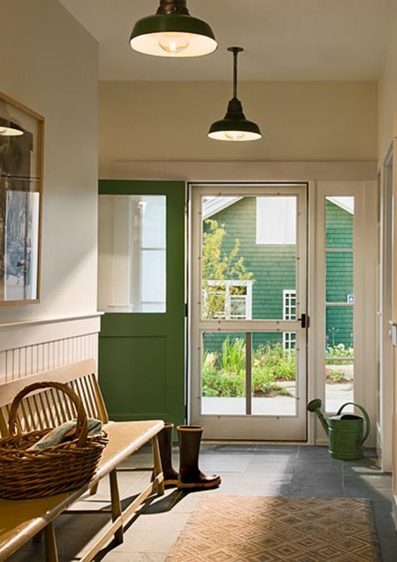 Farmhouse Foyer S : Farmhouse foyers and green doors on pinterest