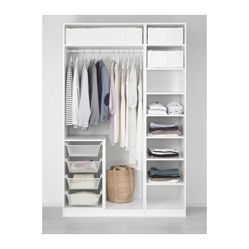 PAX Wardrobe, white | Pax wardrobe, Ikea pax and Ikea pax wardrobe
