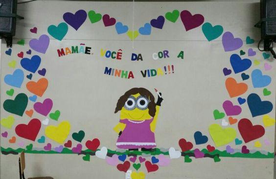 Mural do dia das mães. #educaçãoinfantil   artesanatos ...