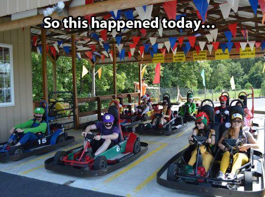 Go kart race just got serious…