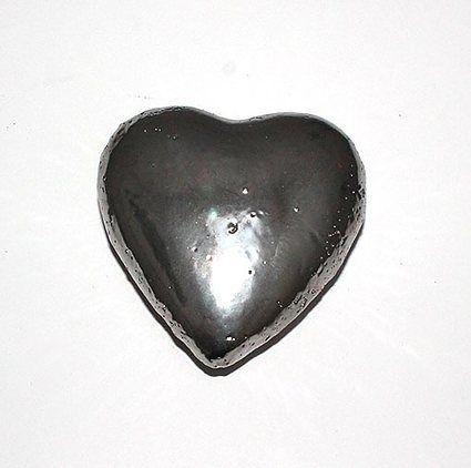Deko hjerte i sølv – Stor