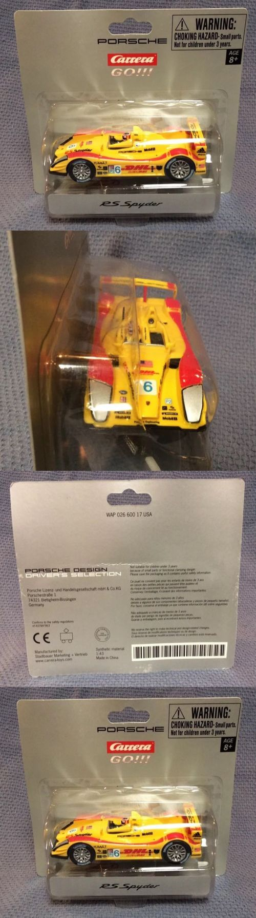 Carrera Go Slot Car 1 43 Scale Prototype Lemans Race Porsche Rs Spyder Rare 6 Slot Cars Porsche Carrera
