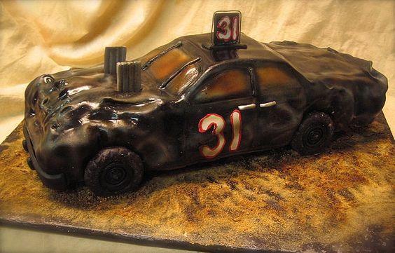 Demolition Derby Car Cake By Debbiedoescakes Via Flickr