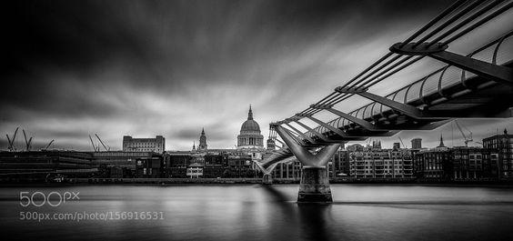 st paul's cathedral millennium bridge by JieyuJayXu