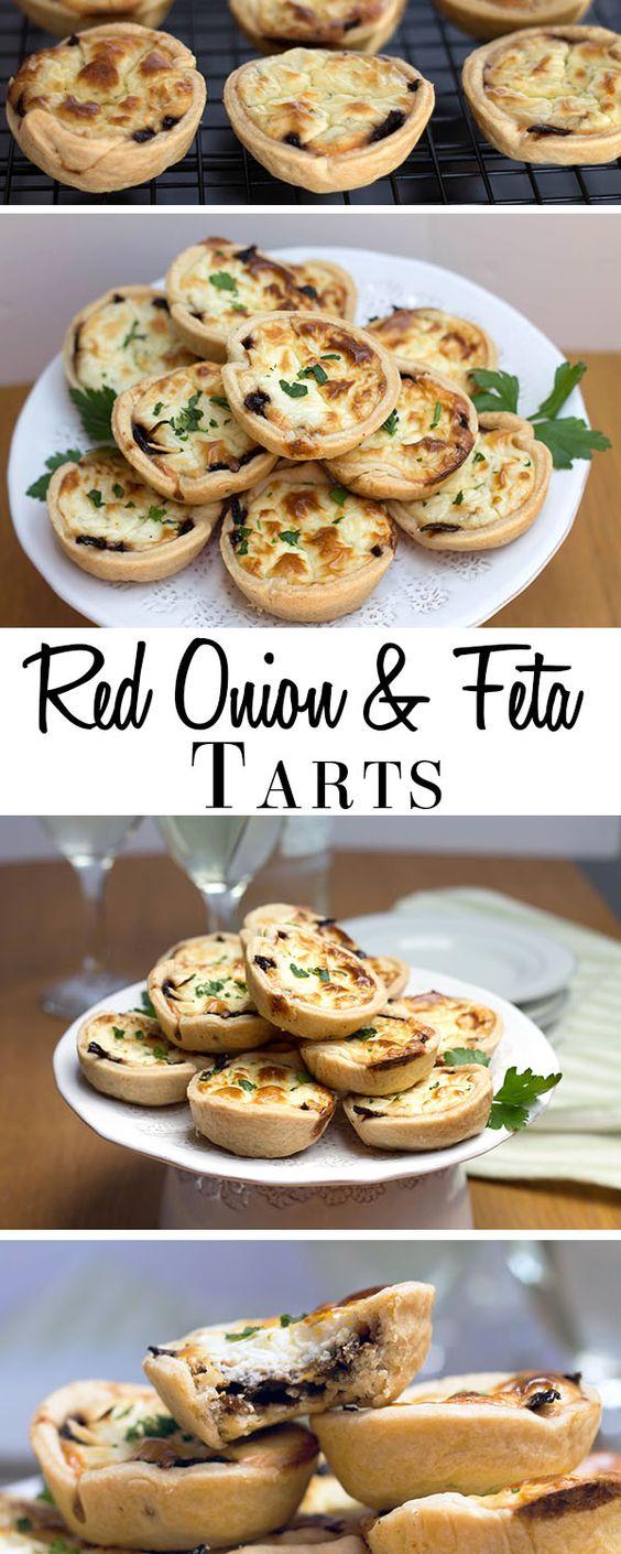 Red Onion & Feta Tarts #dan330 http://livedan330.com/2015/06/15/red-onion-feta-tarts/