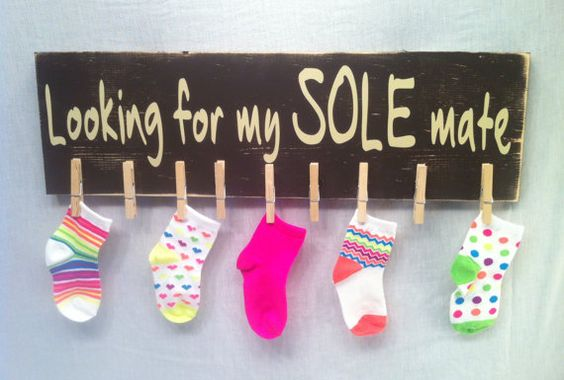 Missing Socks, Laundry Sign, Laundry Room Sign, Lost Socks, Laundry Room Fun, Sole Mate, Mother's Day Gifts: