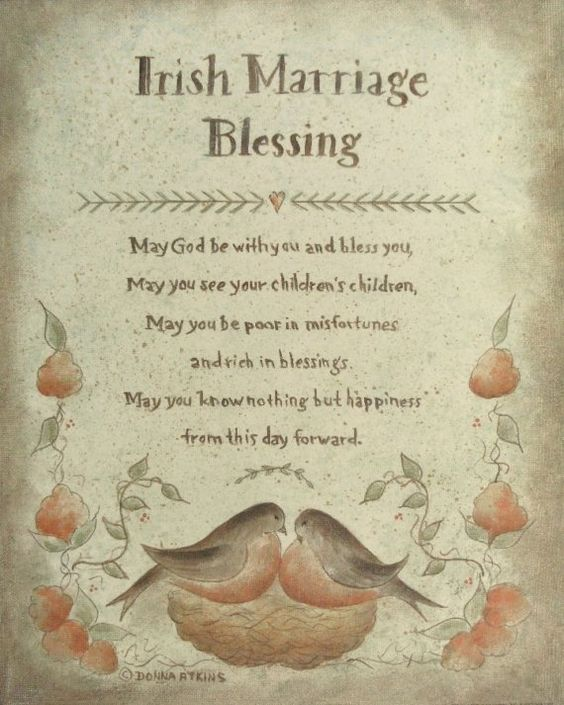 Irish Wedding Quotes: Irish Marriage Blessing