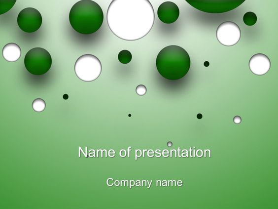 White green bubble PowerPoint Template Templates Pinterest - water powerpoint template