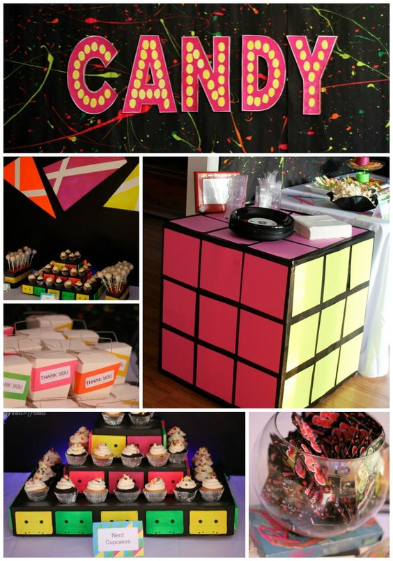 Totally outrageous 80s party by for 80 theme party decoration ideas