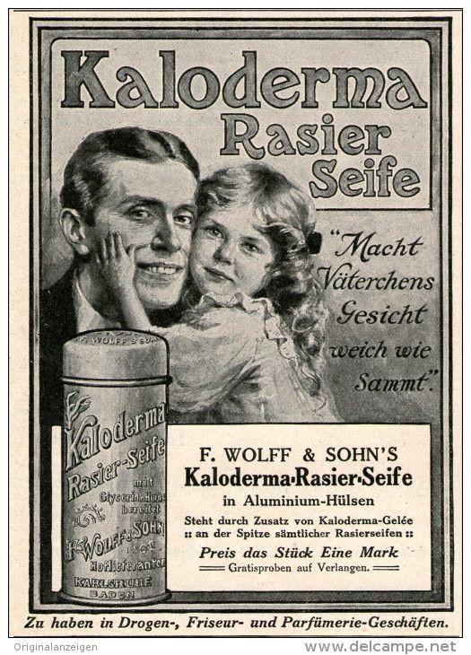 Original-Werbung/Inserat/ Anzeige 1911 - KALODERMA RASIER -SEIFE  - ca. 90 x 120 mm