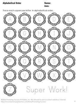 FREE Download Alphabetical Order Worksheets for Kindergarten Back ...