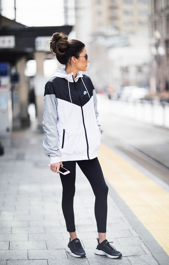 DETAILS: COLORBLOCKED JACKET | STRIPED LONG SLEEVE TEE | BLACK LEGGINGS | BLACK SNEAKERS | SUNGLASSES CODY: NIKE JACKET | GRAPHIC TEE | GREY JOGGERS | RED SNEAKERS | SUNGLASSES (OLD – SIMILAR HERE)…