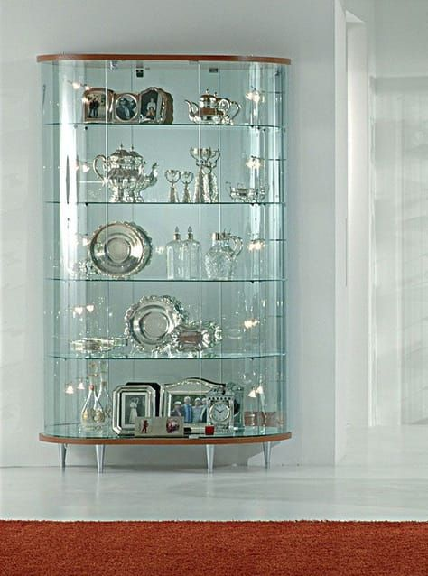Showcases Wood Curved Glass Display Cabinet Showcases With Wooden Structure Glass Showcase Glass Cabinets Display Glass China Cabinet Furniture Dining room wooden showcase design