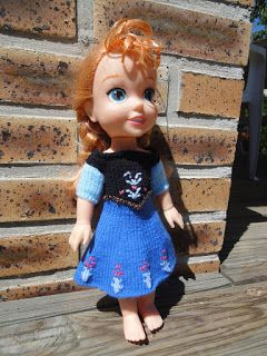 """Tuto dress of Snow Queen Anna """"Mountain of the North"""" for Disney 30cm doll"""