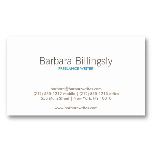 Customizable Business Card for Teachers and Instructors