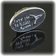Save the Whales Pin