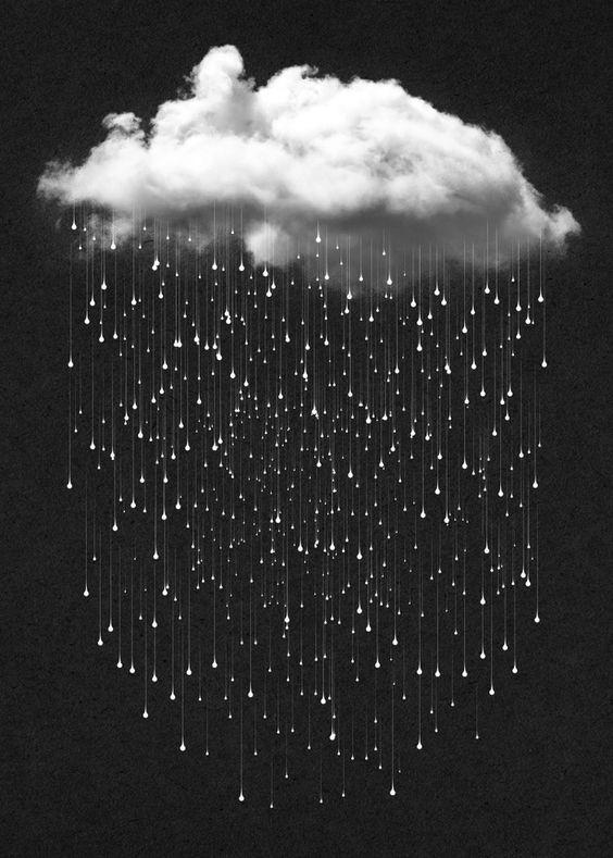 Nuvem chovendo.