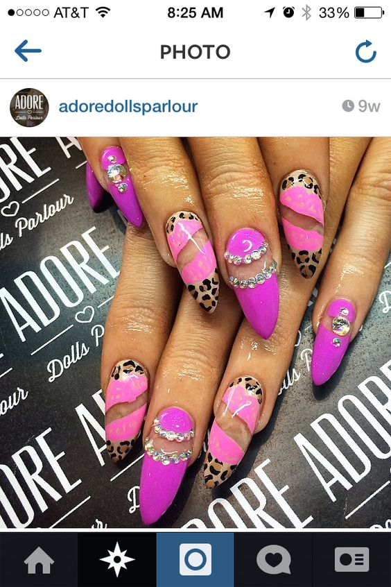 @adoredollsparlor on Instagram   Love these nails!!