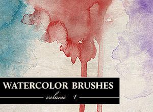 watercolour photoshop brushes