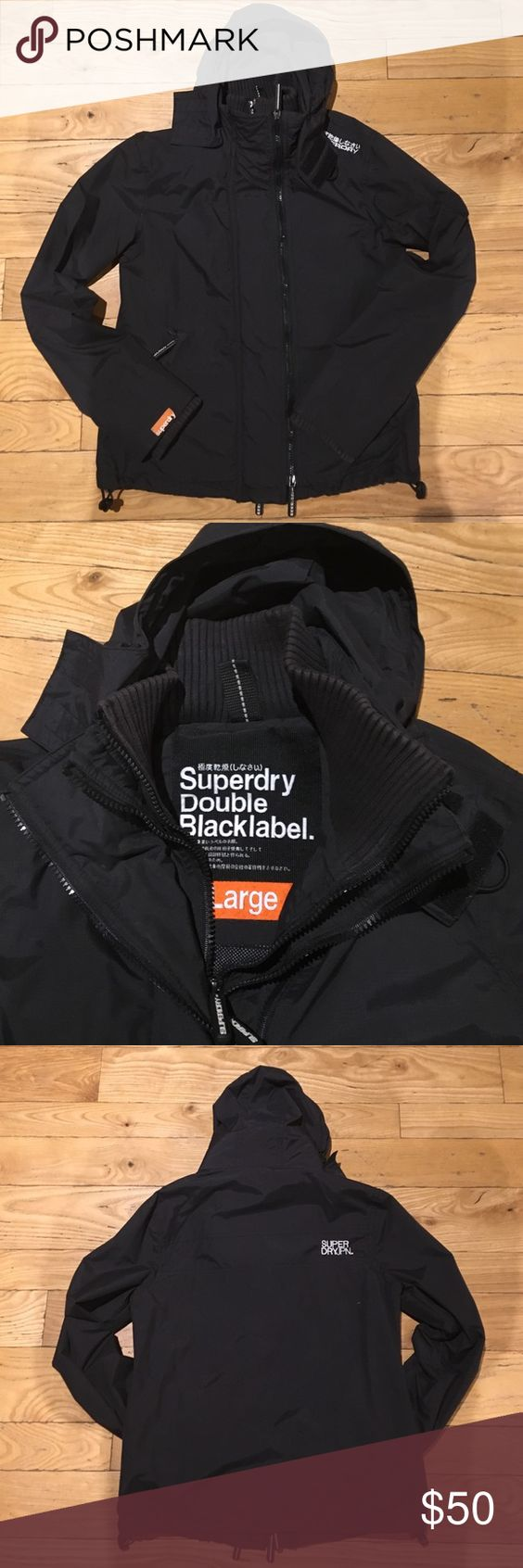 Superdry Double Black Label windcheater jacket Like new condition, lightweight, waterproof, windproof jacket. Superdry Jackets & Coats