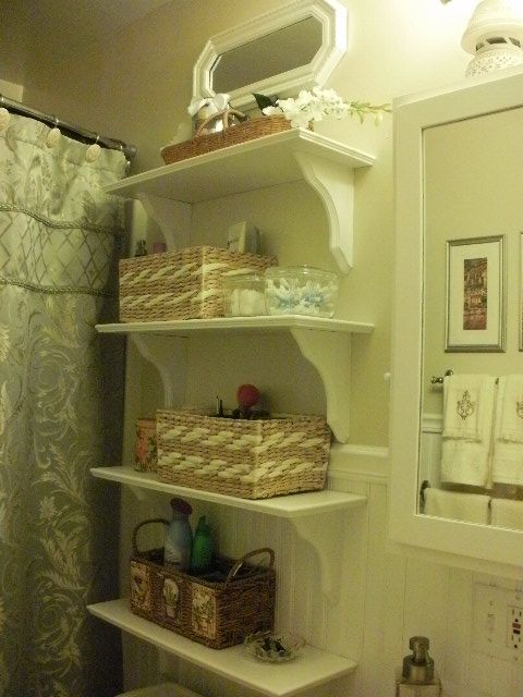 love the stacked shelving