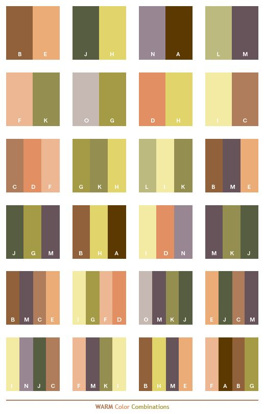 Warm color schemes color combinations color palettes for Home design color combinations
