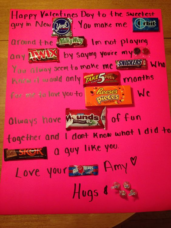 Candy Valentines Day card for boyfriendgirlfriend – Valentines Cards for Boyfriend