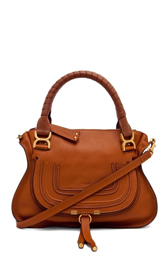 Chloé — Marcie Medium Satchel in Tan