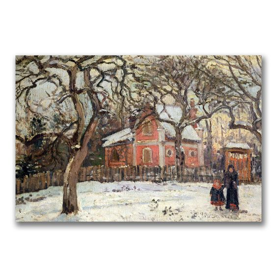 Camille Pissarro ' Trees at Louveciennes' Art