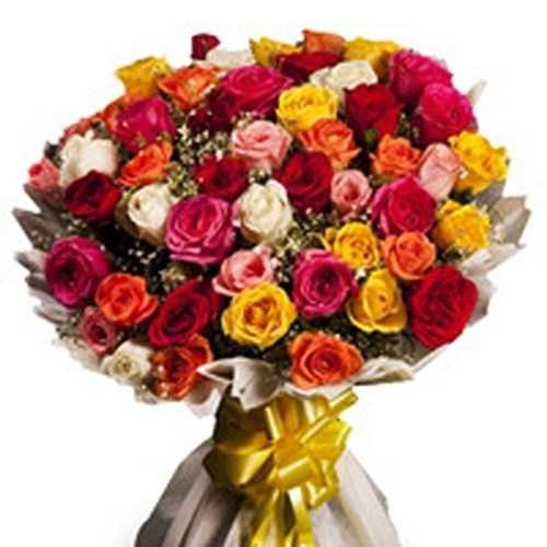 Bunch of 50 mix roses Thank You Flowers Price: $19.56