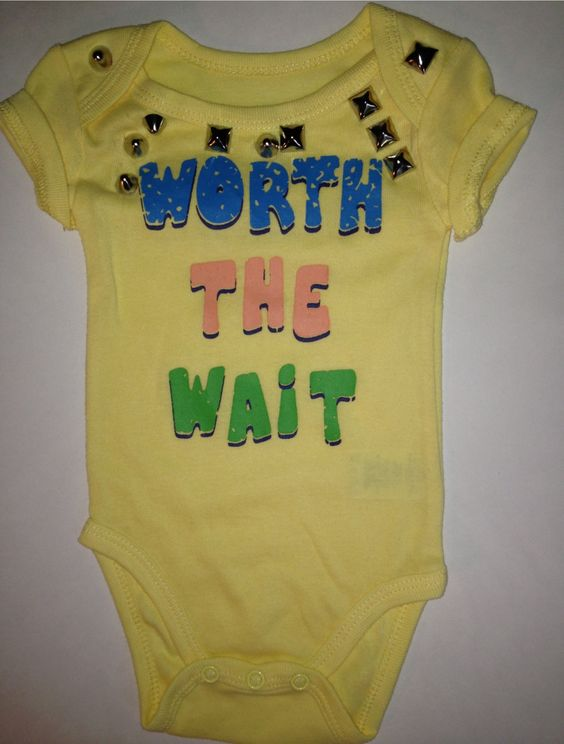Worth+the+Wait+Studded+Onesie+by+LuLuChris58+on+Etsy,+$10.00