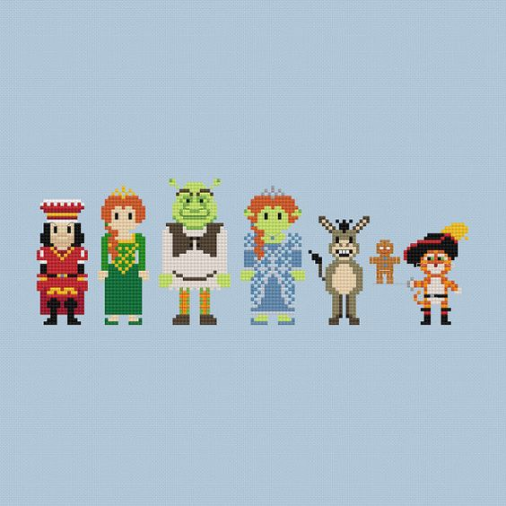 Shrek Cross Stitch Pattern PDF Instant by pixelsinstitches on Etsy