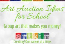 Art auction ideas that will make your organization money--group art that is fun to create and extremely 'sellable'.