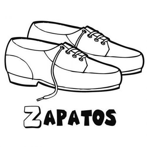 Zapatos Dibujos Para Pintar Zapatos Dibujos Dibujos