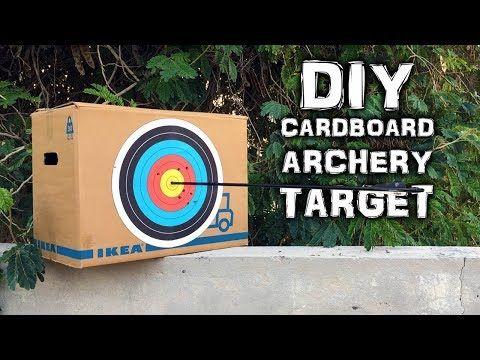 Diy Archery Target On A Budget Cardboard Version What The Hack 26 Youtube Diy Archery Target Archery Target Archery Target Stand