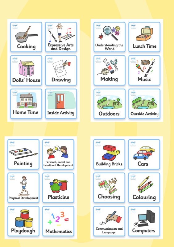 Twinkl Resources >> Visual Timetable- Nursery FS1 >> Printable ...