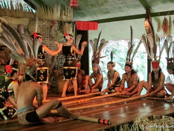 Bamboo Dance by Murut Tribe.  At Mari-Mari Cultural Village.