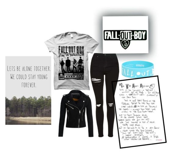 """""""Fall Out Boy"""" by little-miss-emo-girl ❤ liked on Polyvore featuring Topshop, Superdry, black, rockandroll, falloutboy and fob"""