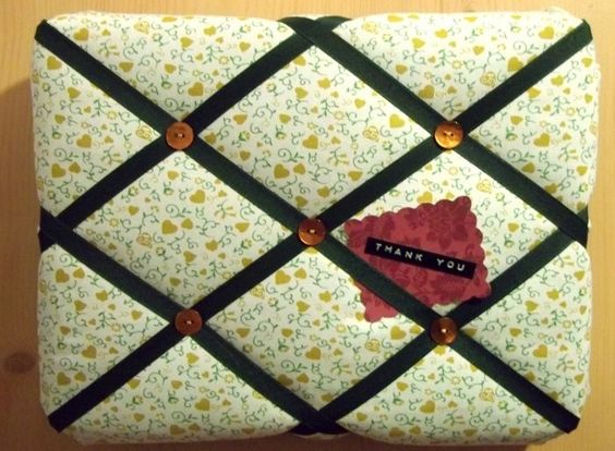 Things to make and do - Fabric Covered Notice Board