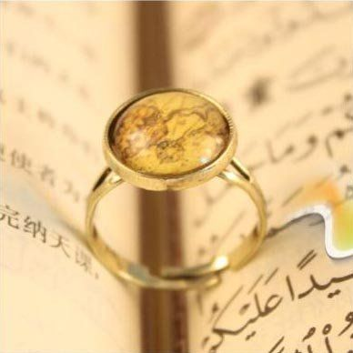 European And American Trade Retro Jewelry, Ancient Maps of Small Ring  R69 $0.35