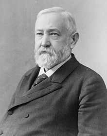 Benjamin Harrison (August 20, 1833– March 13, 1901) was the 23rd President of the United States (1889–1893). Harrison, a grandson of President William Henry Harrison, was born in North Bend, Ohio, and moved to Indianapolis, Indiana, at age 21, eventually becoming a prominent politician there. During the American Civil War, he served the Union as a Brigadier General in the XX Corps of the Army of the Cumberland.