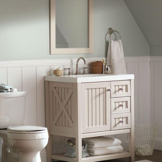 Martha stewart bathroom vanity bathroom redo for Martha stewart bathrooms