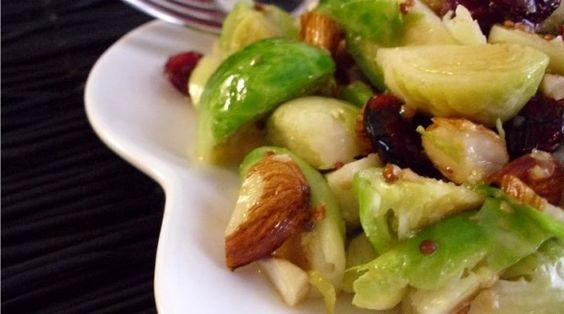 Warm Brussels Sprouts Salad with Honey-Dijon Vinaigrette