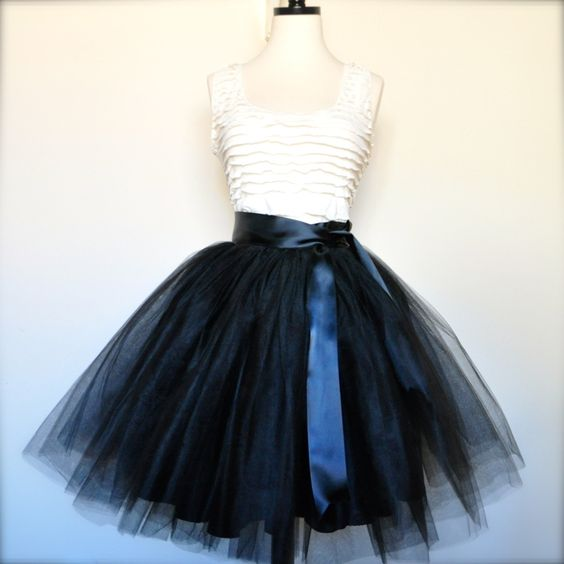 black tutu skirt clothes shoes and accessories
