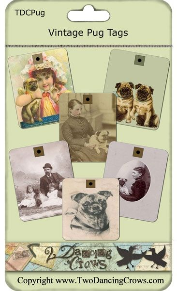 -magnetic bottle cap sheets more products vintage pug dog tags