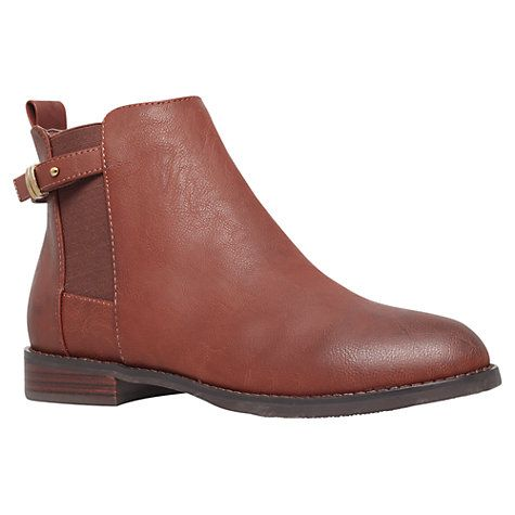 Buy Miss KG Sammy Flat Ankle Boots, Tan Online at johnlewis.com