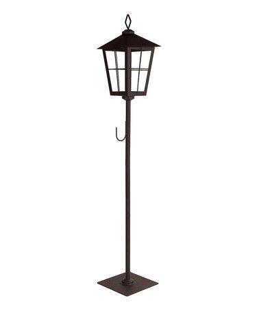 Another great find on #zulily! Black Streetlamp Wreath Holder Lantern #zulilyfinds