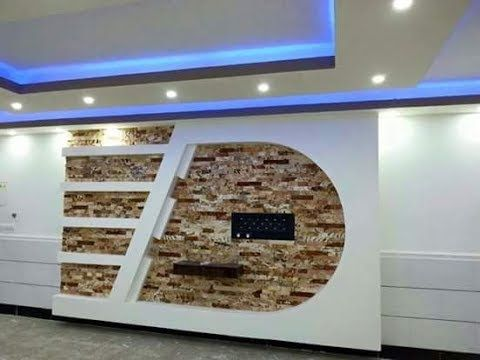 أكثر من 200 صورة ديكورات مكتبات شاشة بلازما جبس بورد Youtube Ceiling Design Living Room Simple False Ceiling Design Bedroom False Ceiling Design